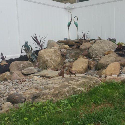 Yoga and Meditation Waterfall Garden